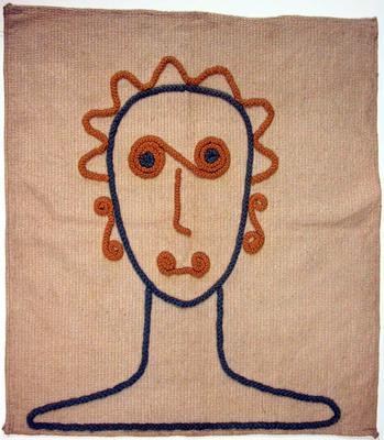 Untitled Embroidery (face of a woman)