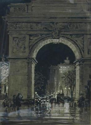 Washington Square at Night