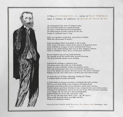 Walt Whitman, Gehenna Press Broadside