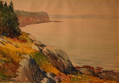 Shore Scene at Ironbound Island