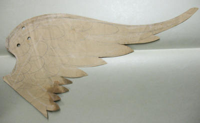 Pattern for eagle wing