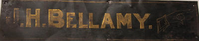 Name Sign (J.H. Bellamy)