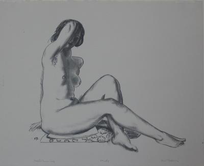 Girl on a Flowered Cushion