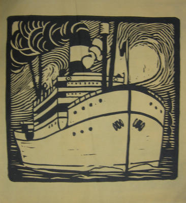 Untitled (Steamship at Sea)