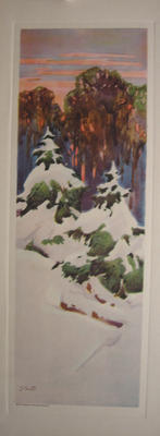 Untitled (Snow on Pine Trees)