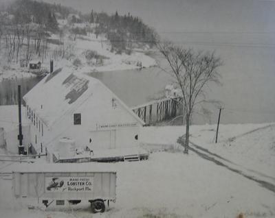 Untitled (Snow Scene of Rockport Harbor)