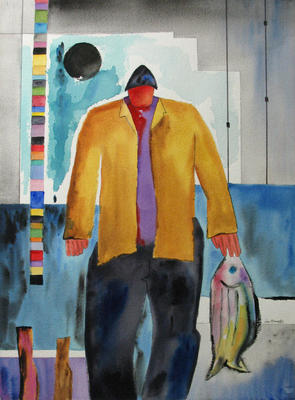 Untitled (Fisherman with Fish)