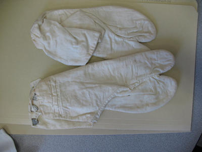 Foot coverings from a Japanese ceremonial costume