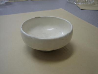 Chinese white bowl.