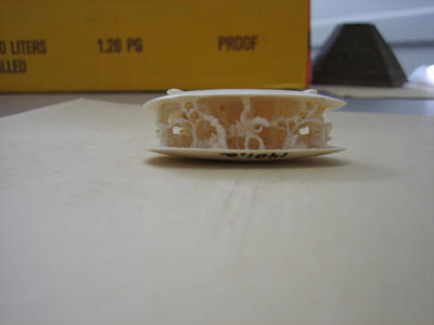 Ivory Clam Shell with carved scene