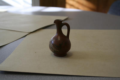 Pottery, miniature brown ewer from Greece