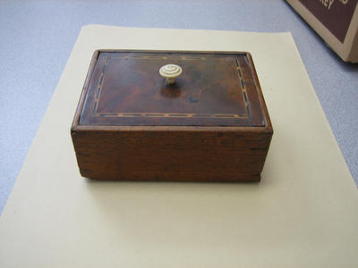 Lead-lined wooden box