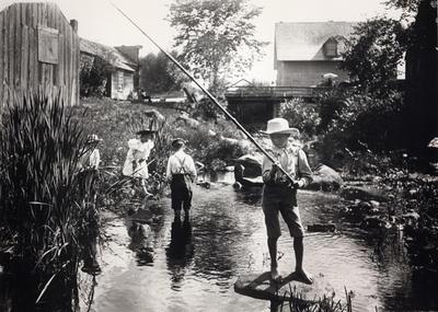 Fishing in the Brook, Chesham, New Hampshire