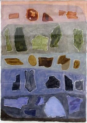 Arranged Colored Rock Shapes