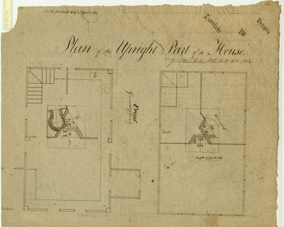 Plan of the upright part of a house