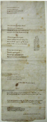 Sample of how small Rev. Fisher could write