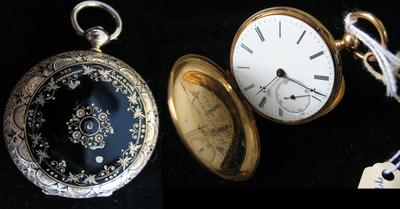 Ferdinand Melly Lady's Gold, Diamond and Green Enamel Hunting Case Pocket Watch