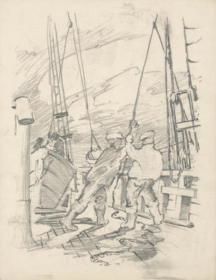 Untitled (Men working on deck)