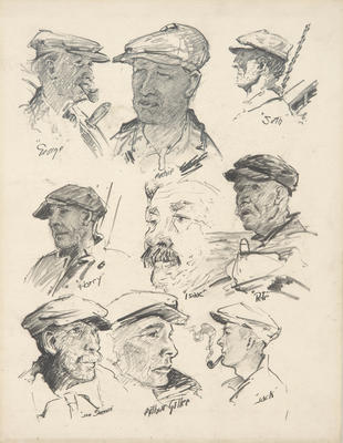 Untitled (Composite of nine Elizabeth Howard crew members)