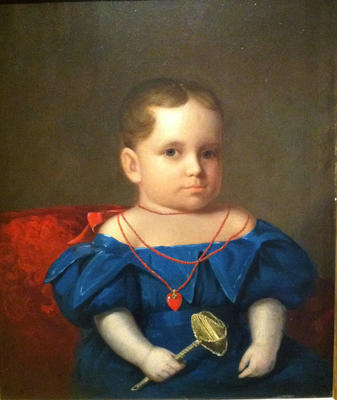 Young Boy with Rattle