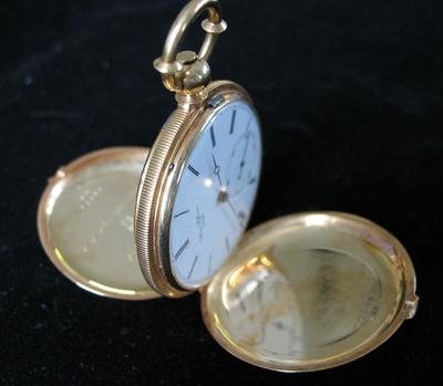 Henry Hoffmann Locle Key Wind Hunter Case Pocket Watch