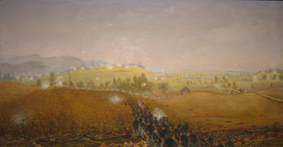 Battle of Antietam, September 17, 1862 7th Maine Attacking over the Sunken Road through the Piper Cornfield