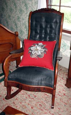 Mahogany Scroll Arm Rocker