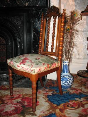 "Decorative Walnut ""Hall"" Chair"