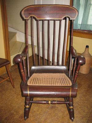 Wood Boston Rocker with Cane Seat