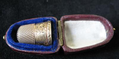 Leather Thimble Case