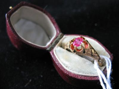 Woman's Gold and Ruby Ring