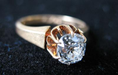 Woman's Gold and Diamond Ring
