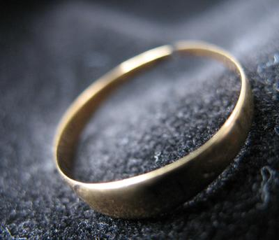 Woman's Gold Baby or Little Finger Ring