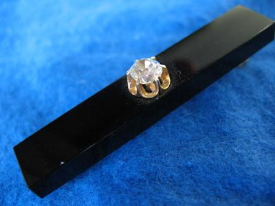 Black Onyx Tie Bar with Diamond