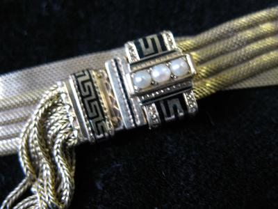 Woman's Gold Mesh Slide Bracelet