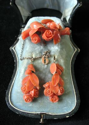 Drop Down Coral Earring