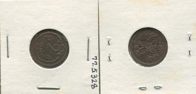 One 2 Heller Bronze Coin, Austria, 1911