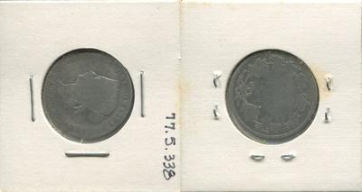 One 25 Cent Silver Coin, Canada, 1871