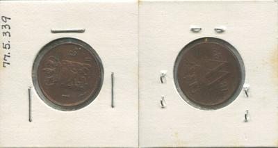 1 Cent Copper Coin, Netherlands, 1822