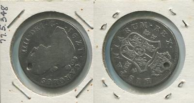 One 4 Reales Silver Coin, Imperial Spain, 1791