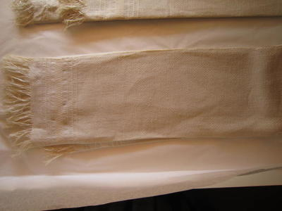 White Embroidered Towel