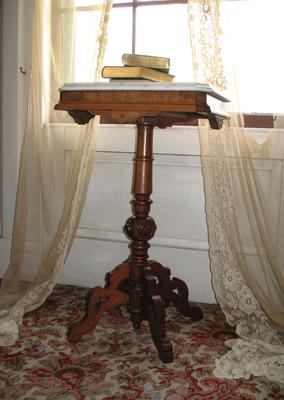 Marble Topped Lamp Stand