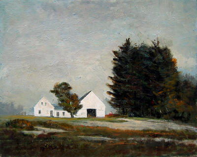Untitled (house and barn)