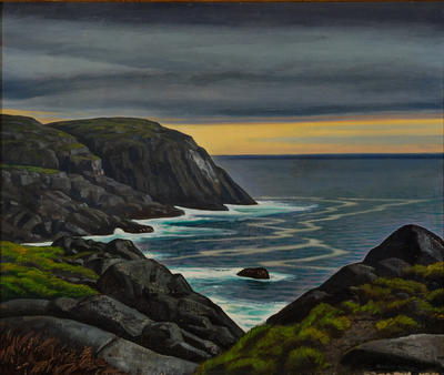 Untitled (Maine Headland scene)