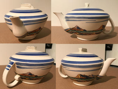 """Salamina"" teapot with top"