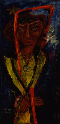 Woman with a Red Scarf