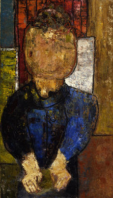 Figure in a Blue Shirt