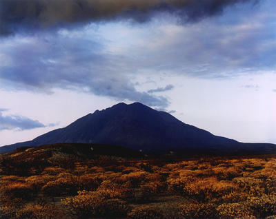 "Sunset behind Las Tres Virgenes Volcano, Near Mezquital, Baja, California, August 12, 1966 from ""In Wildness"" Portfolio"