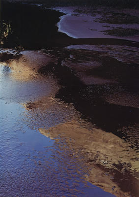"Reflections in Pool, Indian Creek, Escalante River, September 22, 1965 from ""Glen Canyon"" Portfolio"
