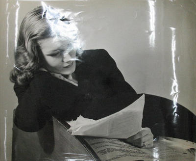Unknown Movie Actress Reading Her Script